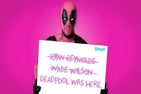 Deadpool Partners with Omaze and Wears Pink to Fight Cancer