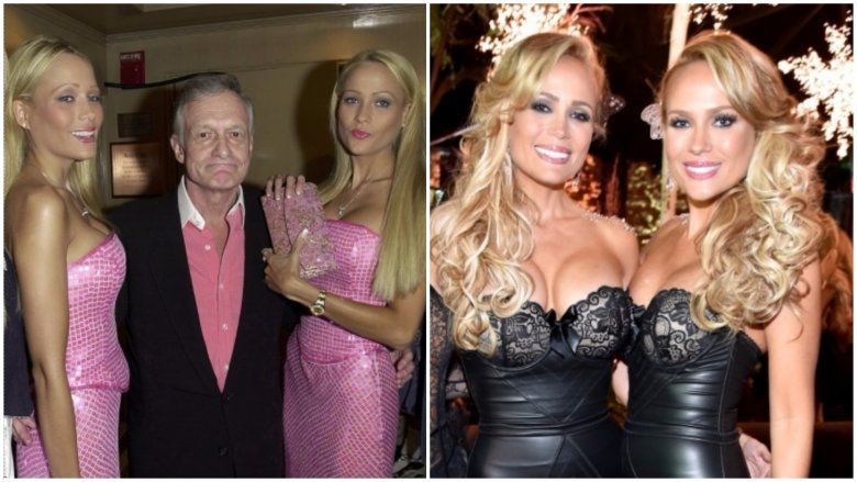 Sandy And Mandy Bentley Were The First Set Of Twins That Hefner Started Dating Simultaneously As Hef Tells It All Took Was A Few Phone Calls