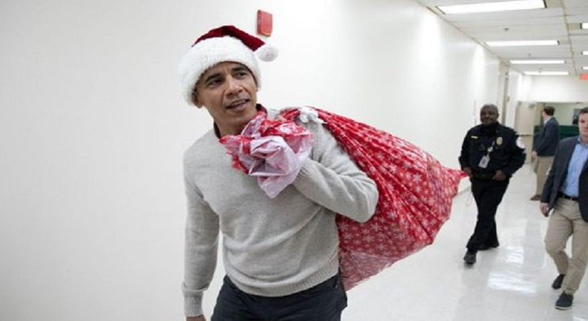 Barack Obama Paid a Surprise Visit to a Children's Hospital as a 'Stand-In Santa'