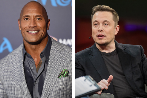 Elon Musk Posts Photo of His Face Pasted to The Rock's Body – Dwayne Johnson Commented as Expected