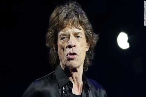 "After undergoing a heart surgery, Mick Jagger, the lead singer of the Rolling ""Feeling Much Better Now"""